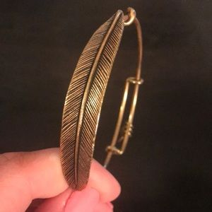 Alex and ani big leaf bracelet